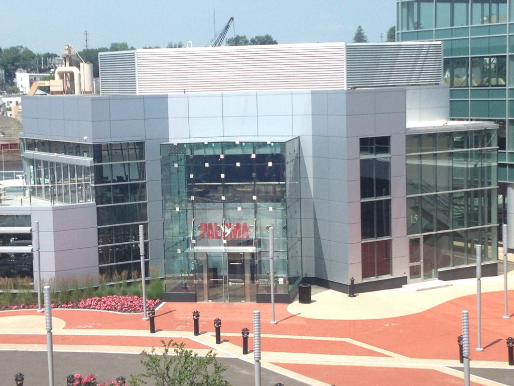 Custom Glass Wall And Canopy - Harbor Point - Stamford CT