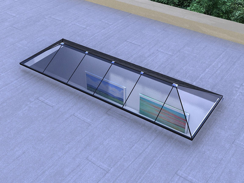 Hip Ridged Standardized Glass Skylight