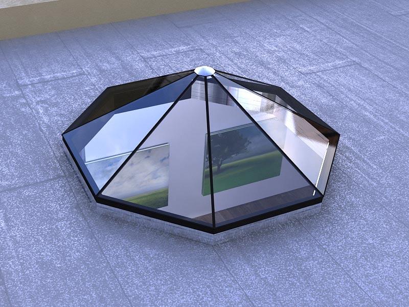 Octagon Shaped Standardized Glass Skylight