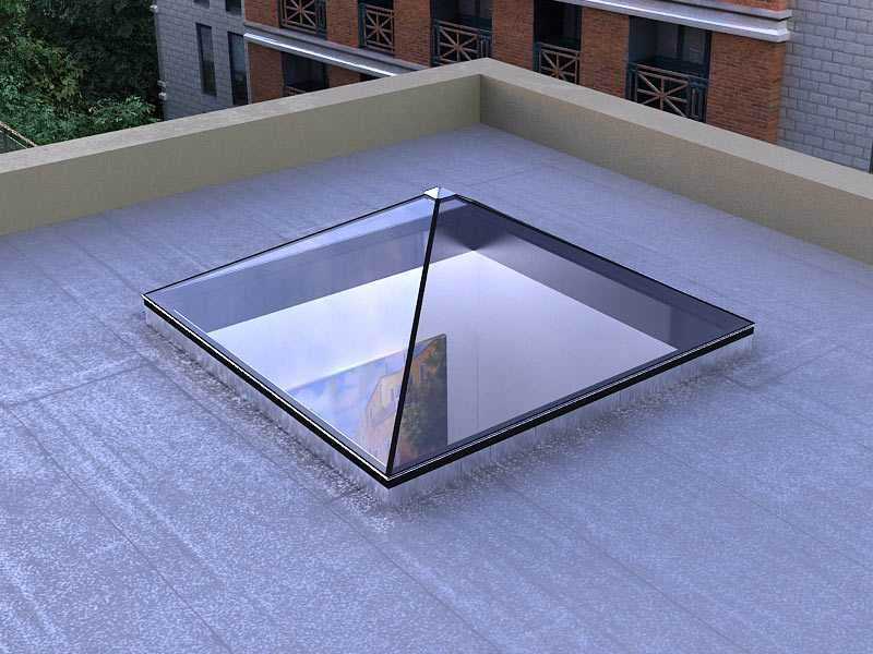 Pyramid Shaped Standardized Glass Skylight