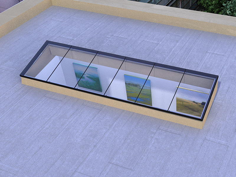 Single Slope Standardized Glass Skylight