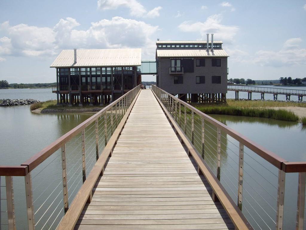 Custom Glass Bridge - Oyster House - Lottsburg VA