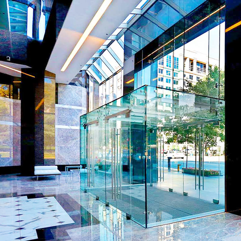 Custom Structural Glass Vestibule