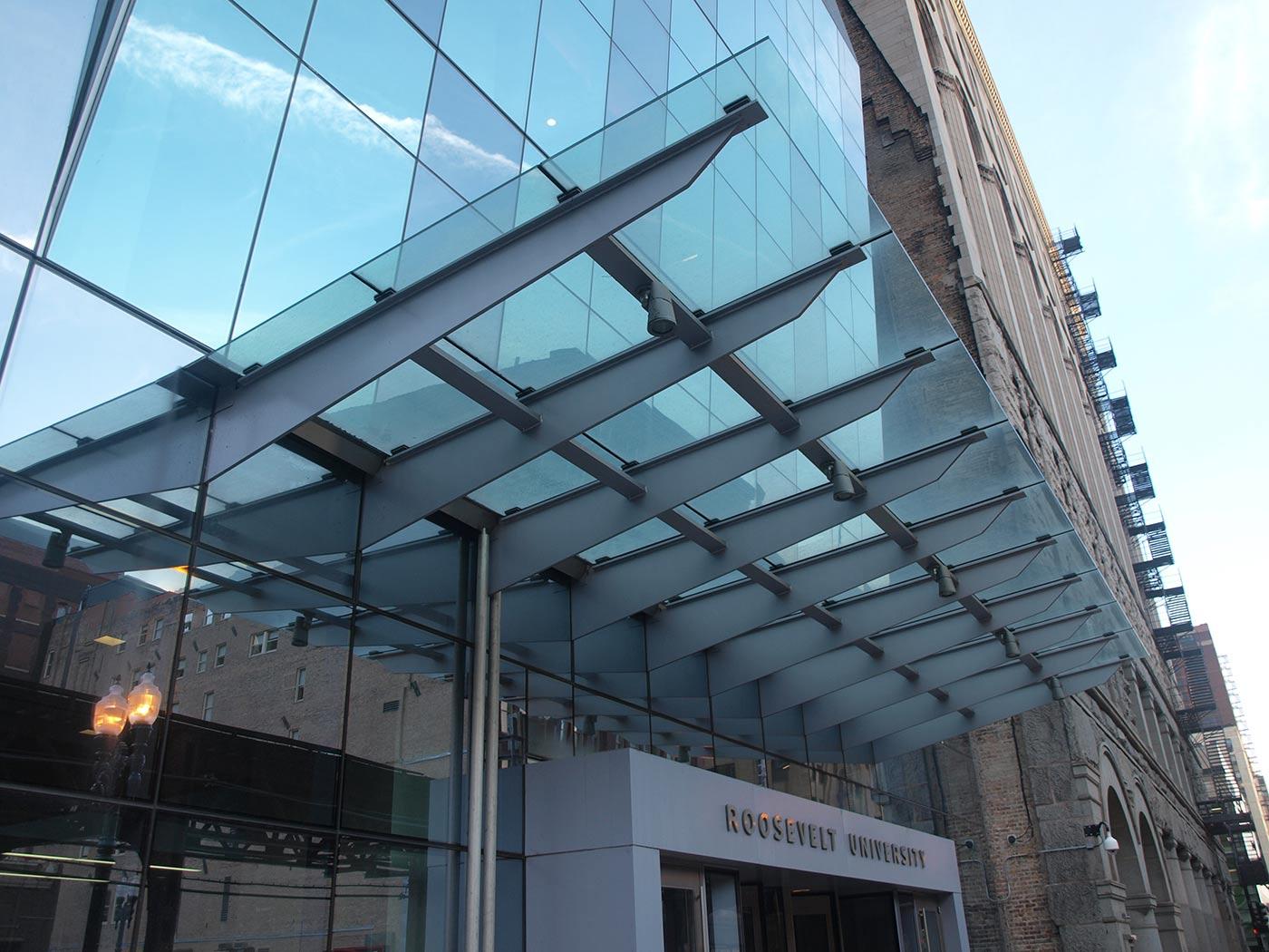 Roosevelt University Glass Canopy