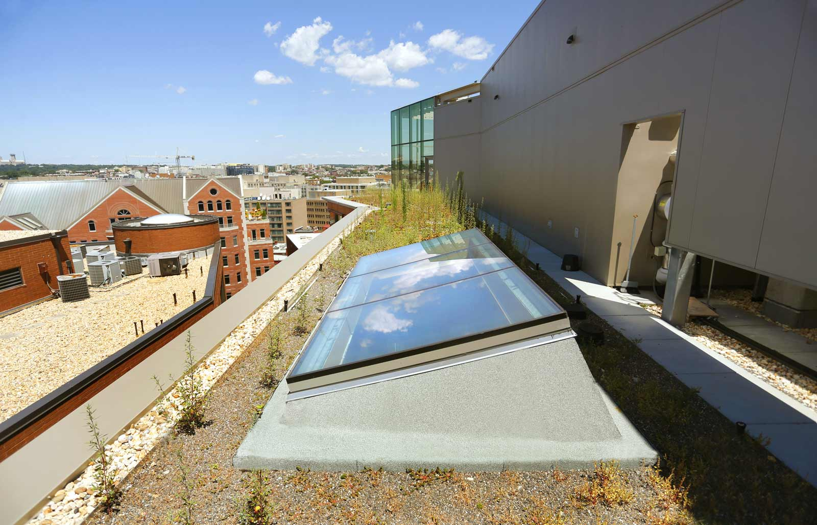 Pillsbury Law Single Slope Skylight from the exterior