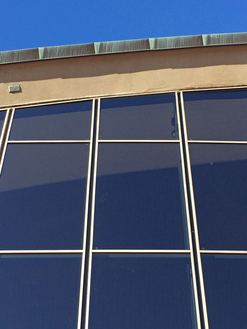 Detailed view of the Stainless Steel Curtain Wall elements