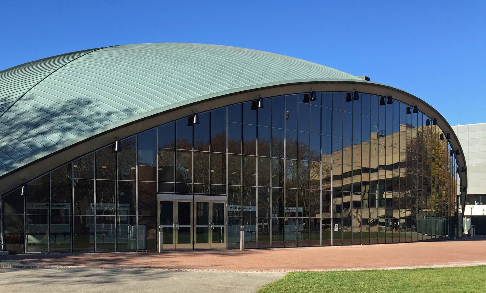 MIT Kresge Auditorium South Wall - Custom Glazing Systems in place