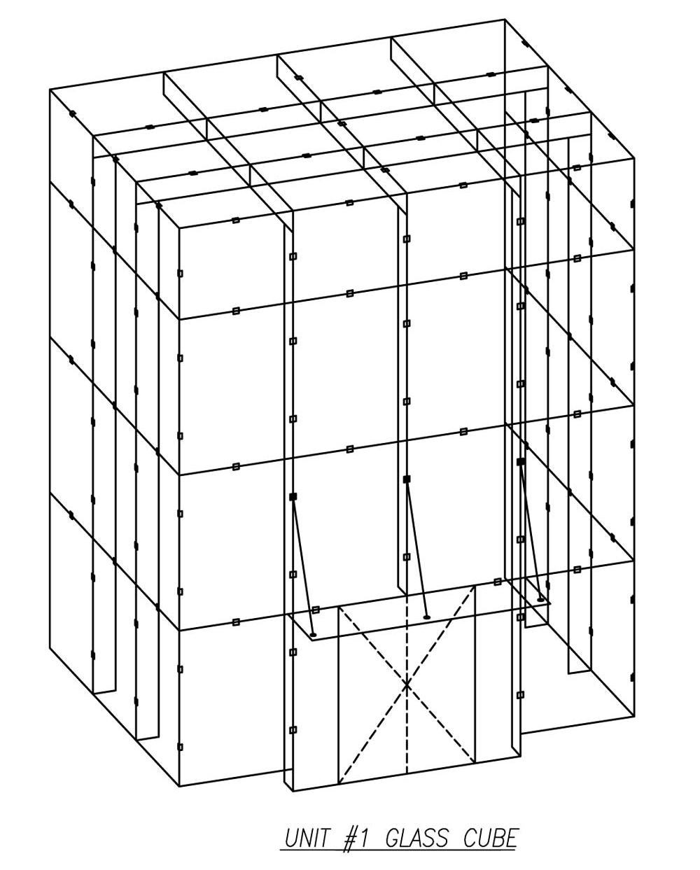 Harbor Point S4 Isometric Drawing - Custom Glazing Systems